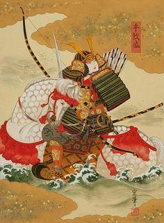 Japanese Drawings, Japanese Artwork, Japanese Painting, Japanese Prints, Female Samurai, Samurai Warrior, Japanese Woodcut, Samurai Artwork, Japanese Warrior