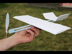How to Make a Rubber Band Plane Out of Paper - Very EASY - YouTube