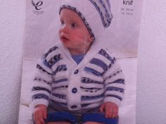 "UK/EU SELLER  pdf Baby Knitting Pattern King Cole 3557 Jacket/Hat Set & Rolled Neck Sweater. Fits 36-56cms (14-22"") Chest. by ElCortijoCrafts on Etsy"