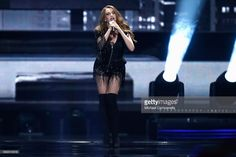 Jana Burceska representing Macedonia performs the song 'Dance Alone' during the second semi final of the 62nd Eurovision Song Contest at International Exhibition Centre (IEC) on May 11, 2017 in Kiev, Ukraine. The final of this years Eurovision Song Contest will be aired on May 13, 2017.