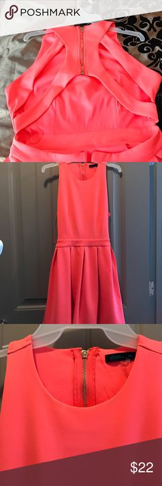 Coral dress with cutouts in the back size M Coral dress with cutouts in the back size M Dresses