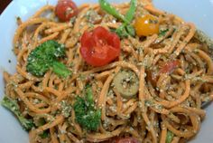 Raw sweet potato noodle salad - Recipe by Briana Santoro