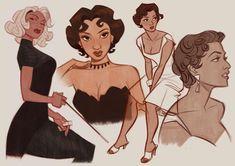 Art Drawings Sketches, Cartoon Drawings, Cartoon Art, Cute Art Styles, Black Girl Art, Poses, Character Drawing, Pretty Art, Character Design Inspiration