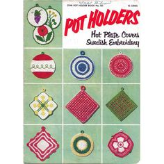 Pot Holders Crochet Booklet Star #101