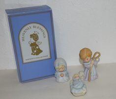 Avon Heavenly Blessings Nativity Collection Mary Joseph Baby Jesus Christmas VTG