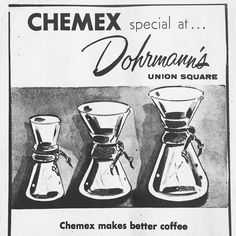 We love a good throwback. #1950 #chemex #chemex75th http://ift.tt/1U25kLY