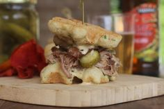 PaleOMG – Paleo Recipes – Sweet Pulled Pork Waffle Sliders  -Making these with beef brisket instead