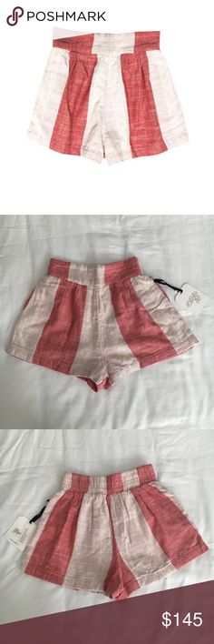 Ace & Jig Big Top Shorts Stripe High Waist Bottoms NWT Ace & Jig Big Top Shorts Red White Stripe High Waist Bottoms Totokaelo  fall/winter 2014 — now sold out everywhere  new with tags  a midweight doublecloth with natural and faded red block stripes.  100% cotton Ace & Jig Shorts