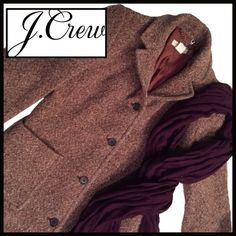 "J Crew Tweed Coat  (Take 25% off) J Crew Tweed Coat- NWOT, beautiful, extremely well-made tweed coat. Worn once, Recently dry cleaned. In another coat listing in my closet ( the red one), I mentioned that I generally only buy my coats from JCrew.... I always get excited about which I'm going to get! Measurements: Size XS..... Length-36"".......         Waist (at most narrow point on coat)- 16""......  Arm Length- 25"".......  Bust- 18"".......         Shoulder (seam to seam)- 17"" J. Crew Jackets…"