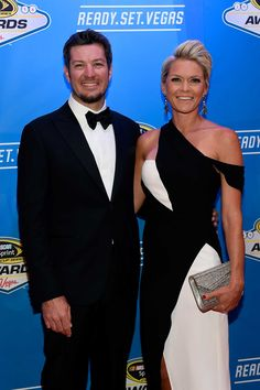 Red Carpet Photos from the Sprint Cup Awards: Saturday, December 3, 2016 - NASCAR Sprint Cup Series driver Martin Truex Jr. and his girlfriend Sherry Pollex attend the 2016 NASCAR Sprint Cup Series Awards at Wynn Las Vegas on December 2, 2016 in Las Vegas, Nevada. Photo Credit: Getty Images