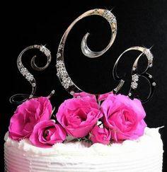 Monogram Cake Toppers Wedding Cakes