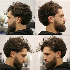 Long Wavy Hairstyle - Best Men's Hairstyles: Cool Haircuts For Men. Most Popular Short, Medium and Long Hairstyles For Guys Mens Hairstyles With Beard, Easy Hairstyles For Long Hair, Hair And Beard Styles, Hairstyles Haircuts, Haircuts For Men, Curly Hair Styles, Cool Hairstyles, Mens Longer Hairstyles, Hairstyle Ideas