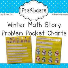 Math Story Problem Pocket Charts ~ for WINTER.  These look great for teaching problem solving!