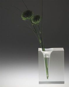 """""""A fine glass vase goes from treasure to trash, the moment it is broken. Pick up your pieces. Then, help me gather mine"""" - VERA NAZARIAN - (Unique block vase by Ichiro Harada) Ikebana, Vase Deco, Tableau Design, Decor Inspiration, Wooden Vase, Deco Floral, Pottery Vase, Flower Vases, Flower Vase Design"""