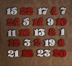 And yet another advent calendar.  This one is made of cookies!  By Victoria Rushton.