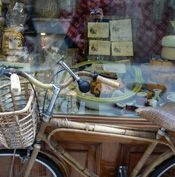 A bike is the best way to go, complete with wicker basket and maybe some flowers.