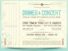 Vintage Dinner Concert Ticket...
