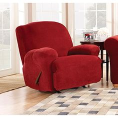 Special Offers - Sure Fit Stretch Pique Recliner Slipcover Medium Garnet - In stock & Free Shipping. You can save more money! Check It (May 14 2016 at 09:26PM) >> http://sectionalsofasxl.net/sure-fit-stretch-pique-recliner-slipcover-medium-garnet/