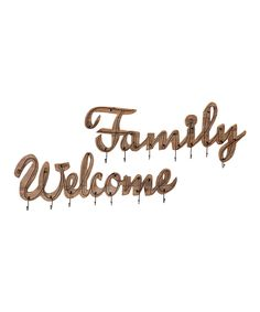 Welcome & Family Wall Hook Set