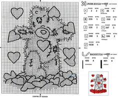 tatty teddy love pattern