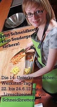 Jetzt Schneibretter zum Sonderpreis von 50 Euro sichern und bei den Werkstatt-Tagen am 22. bis 24 Juni bei der Herstellung zuschauen: http://www.die-moebelmacher.de/aktuell/veranstaltungen/uwt/uwt12sonderaktion.html