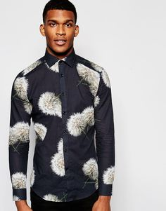 Reiss+Slim+Shirt+with+All+Over+Floral+Print