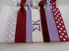 Sigma Kappa Hair Tie Set - 7 Pack