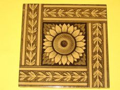 MINTON  AESTHETIC MOVEMENT SUNFLOWER TILE