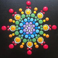 Photo by Mandala Art ~ ValsMandalas on November Mandala Design, Mandala Art, Mandala Painting, Mandala Pattern, Mandala Drawing, Rock Painting Patterns, Dot Art Painting, Rock Painting Designs, Pebble Painting