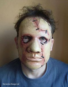 mens scary zombie mutant deluxe latex film tv face mask halloween costume mask - Zombie Halloween Faces