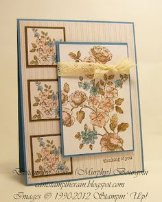 Handmade floral thinking of you card created by Tara Murphy Bourgoin and also…