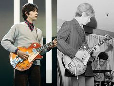 Keith Richards' 1959 Gibson Les Paul Standard  Richards bought this guitar in 1964 in London and used it extensively in the band's early days before selling it to future Stones guitarist Mick Taylor in 1967. Photos also show it was lent to Clapton and Page at various points in the mid-to-late '60s. It passed through different hands starting in the early 1970s, including Whitesnake's Bernie Marsden, and now is owned by a wealthy collector in Europe. 1959 Gibson Les Paul, Famous Guitars, Les Paul Standard, Famous Musicians, Reality Tv Shows, Rock Legends, Keith Richards, Lent, Rolling Stones