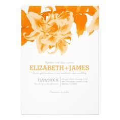 DealsOrange Flower Wedding Invitations Personalized AnnouncementThis site is will advise you where to buy