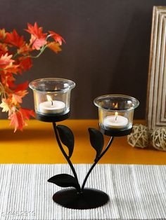 Checkout this latest Votive Candle holders_0-500 Product Name: *Elite Trendy Iron Tealight Holders* Material: Iron Size (L x W x H ) : 15 cm x 9 cm x 18 cm Description: It Has 2 Pieces Of Tealight Holder With 2 Clear Glasses Country of Origin: India Easy Returns Available In Case Of Any Issue   Catalog Rating: ★4.1 (609)  Catalog Name: Elite Trendy Iron Tealight Holders Vol 1 CatalogID_641885 C127-SC1612 Code: 402-4452919-093