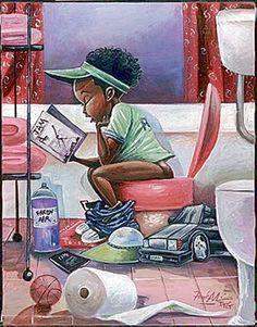 The Thinker (mini) Frank Morrison 2380   Paper: 12 x 9 Image: 10 x 8   Retail $8.00