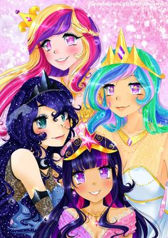 When I say I will draw Princess Celestia, I mean it. She's the only princess I haven't drawn yet . I just love prettifying my drawings. The Princesses of Equestria My Little Pony Poster, My Little Pony Movie, My Little Pony Princess, My Little Pony Characters, My Little Pony Drawing, My Little Pony Pictures, Celestia And Luna, Princess Celestia, Disney Princess Fashion