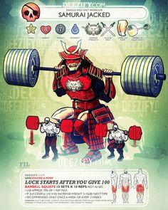 100 Squats    Lots of Squats For Lots of Legs  #LegDay #legs #squats #samurai #lifestyle
