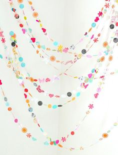 pretty hearts and butterfllies garland