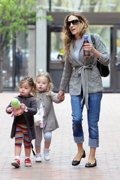 Sarah Jessica Parker and her twins <3