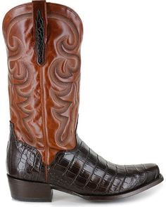27a0fab57 El Dorado Men s Alligator Belly Exotic Boots
