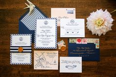 Classic, Nautical Maine Letterpress Wedding Invitations by Sarah Parrott, via Flickr