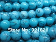 Free Shipping 4MM 6MM 8MM 10MM 12MM 14MM Natural  Turquoise Loose Stone Jewelry Beads D0220(China (Mainland))