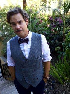 Paul F Tompkins is such a dapper babe here- and apparently ties a bow tie in seconds without a mirror... sigh..