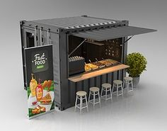 Shipping containers 503488433343372515 - shipping container / cargo kiosk,booth,cafe,food-seller Source by valentineram Food Stall Design, Food Cart Design, Food Truck Design, Juice Bar Design, Cafe Shop Design, Kiosk Design, Cafe Interior Design, Signage Design, Small Cafe Design