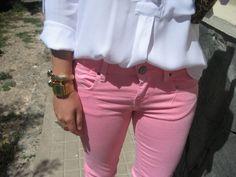 I love colored pants
