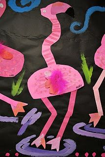 I don't know how I would incorporate these but they are too cute! Fabulous Flamingos