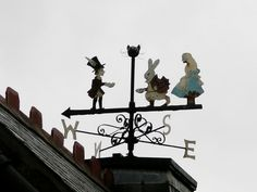 Alice in Wonderland weather vane Lightning Rod, Weather Vanes, Were All Mad Here, Objet D'art, Through The Looking Glass, Alice In Wonderland, Wonderland Party, Garden Art, Ideas