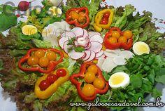 Salada Colorida » Receitas Saudáveis, Saladas » Guloso e Saudável