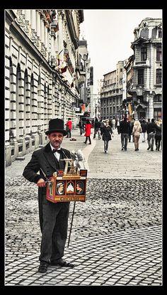 The Old Organ Grinder in Bucharest.