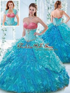 Unique Beaded Bodice and Ruffled Sweetheart Detachable Quinceanera Dress